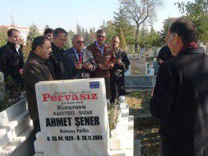 Akşehirde Gazeteci Ahmet Şener anıldı