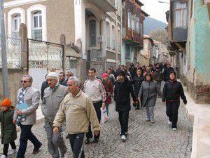 Akşehirde obeziteye karşı yürüyüş