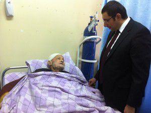 Hastaları da ziyaret etti