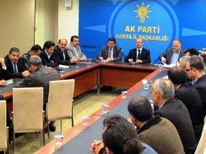 AK Partili İlçe Başkanları Toplantısı yapıldı