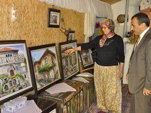 Ressam Kırdarın çalışmalarını yerinde inceledi