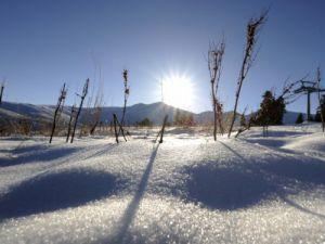 Uludağda kar kalınlığı 20 santimetre