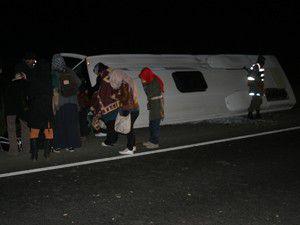 Konyada trafik kazası: 22 yaralı