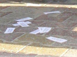 Konyada kartvizit atan kişi tutuklandı