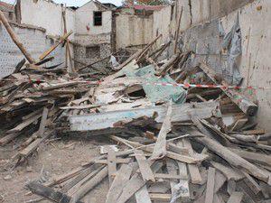 Konyada inşaat çöktü: 1 yaralı