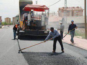 Karatayda hedefin üzerinde asfalt üretimi