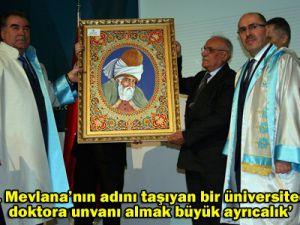 Fahri doktora ünvanı verildi