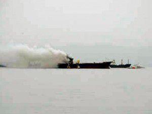 Egede yük gemisinde yangın