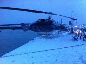 Sarıyerde bir helikopter zorunlu iniş yaptı