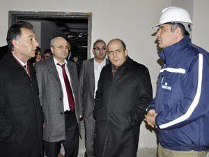 Baloğlu, Akşehirde hastane inşaatını gezdi