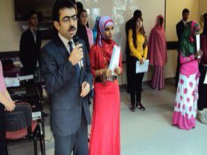 Ereğlide Somalili öğrenciler Akifi andı