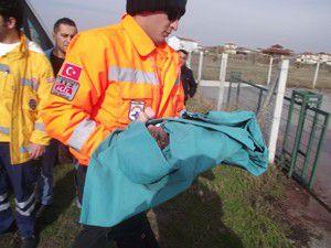 Ambulans bebek için havalandı