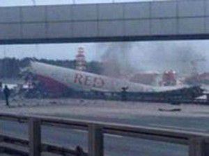 Moskovada uçak kazası