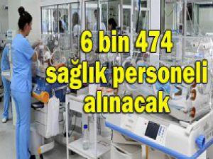 2013te 6 bin 474 sağlıkçı alınacak