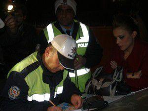 Konyada yeni yılın ilk trafik cezası kesildi