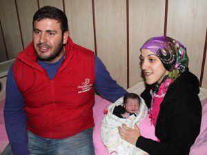 Konyada yeni yılın ilk bebeği dünyaya geldi