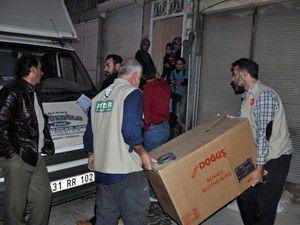 İHH-AYDERin Suriyeye yardımları sürüyor