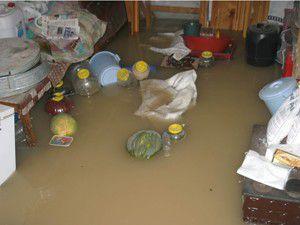 Bazı evlerin bodrumlarını su bastı