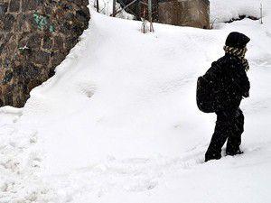 Kar okulları tatil etti