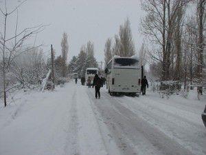 Kar Konyada hayatı olumsuz etkiliyor