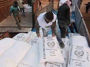 625 ton un yardımı yarın Suriyeye gönderilecek