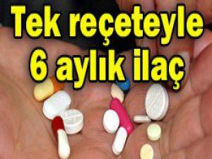 10 hastalık grubuna 6 aylık ilaç