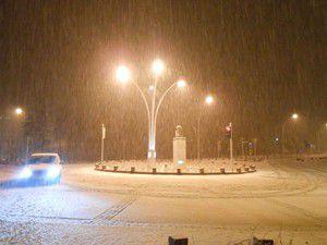 Seydişehire yılın ilk karı yağdı