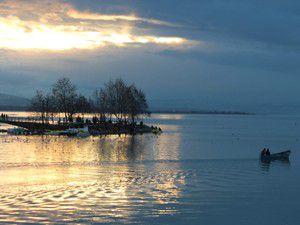 Beyşehir gölü görsel bir şölen yaşattı