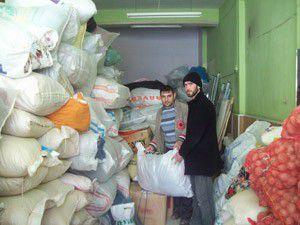 Karapınardan Suriyeye yardım