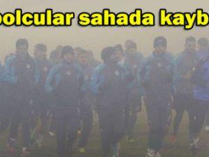 Kartalın antrenmanına sis engeli
