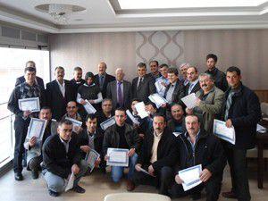 Üreticilere Arıcılık Eğitimi Katılım Belgesi verildi