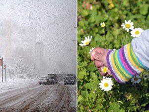 Doğuda kar, Güney Egede bahar