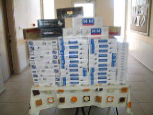 4 bin 375 paket kaçak sigara ele geçirildi