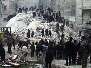 Halepte hava saldırısı