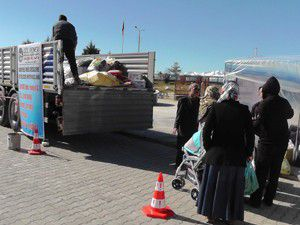 Beyşehirden Suriyeli mültecilere yardım