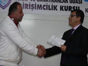 Beyşehirde girişimcilik kursu sona erdi