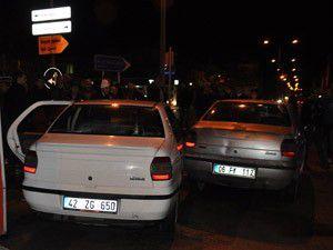 Konyada trafik kazası; 2 yaralı