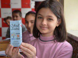 Okul sütü dağıtımı törenle başladı