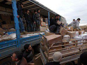 Sınırdaki Suriyelilere günlük kumanya
