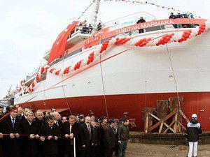 Araştırma gemisi denize indi