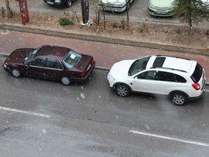 Konyada karla karışık yağmur