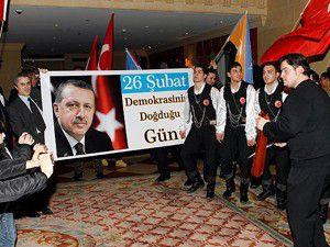 Viyanada Erdoğana doğum günü kutlaması