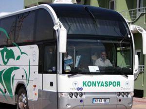 Konyaspor seyircisiz maç için yola çıktı