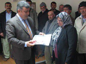 Ereğlide üreticilere katılım belgesi verildi