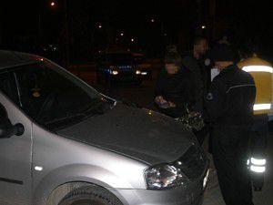 Otomobil ile polis otosu çarpıştı