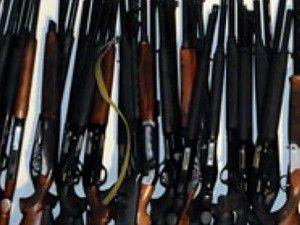 Kaçak üretilen silahlara el konuldu