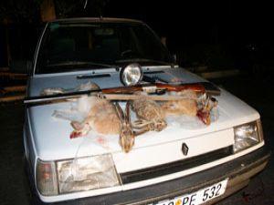 Konyada kaçak avlanan 3 kişi yakalandı