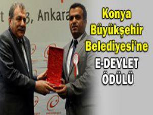 Konya Büyükşehir Belediyesine ödül