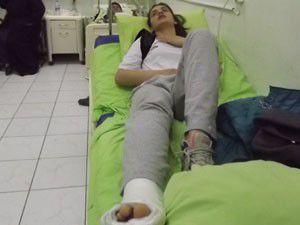 Milli sporcular kazada yaralandı