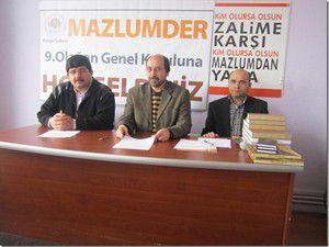 MAZLUMDER Konya Şubesi genel kurulu gerçekleşti